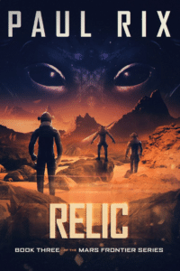 Relic as an Example of SF book cover art with few colors but nice contrasts