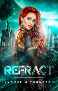 Refract as an example of sci fi book cover with stark contrasts