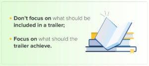 Advice on how to create good book trailer