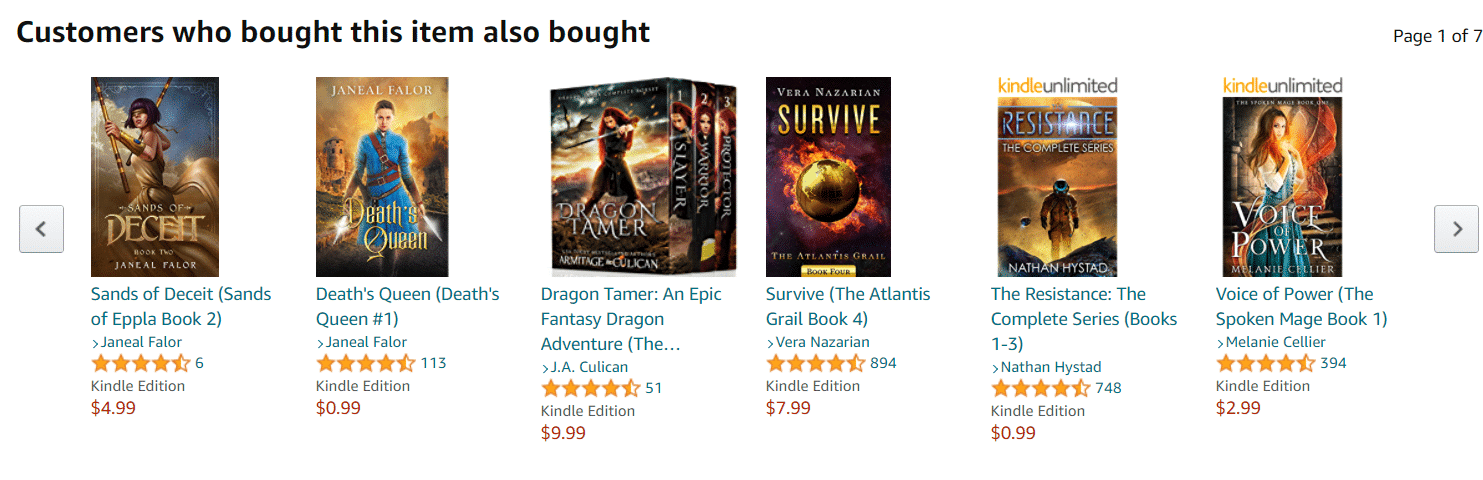 Amazon book cover recommendations example