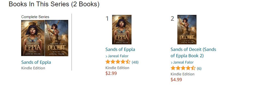 Amazon book cover series example