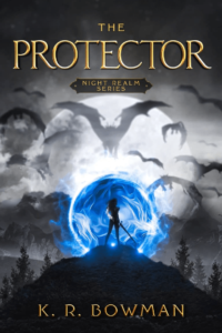 Example of YA fantasy book cover design with strong contrastsa